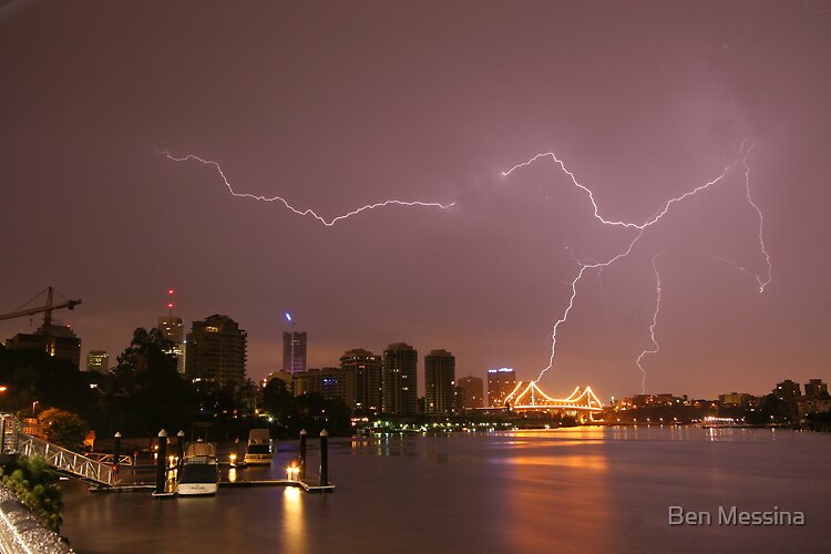 Thunderstorm - Brisbane City by Ben Messina