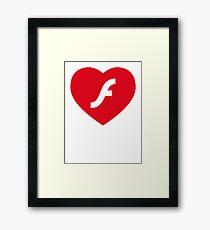 Flash Love Framed Print