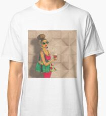 Modern African woman- Morning coffee Classic T-Shirt