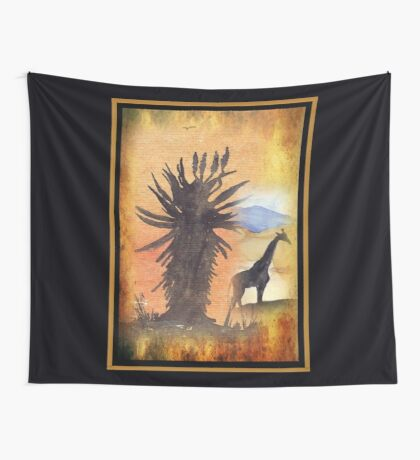 Lodge décor – African Bushveld scene Wall Tapestry
