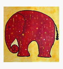 Roter Elephant Photographic Print