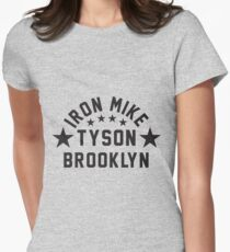 Iron Mike Tyson Brooklyn Womens Fitted T-Shirt