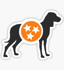 Dark Gray Hound with Orange & White Tri-Star Sticker