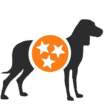 Dark Gray Hound with Orange & White Tri-Star by MorganNicole021