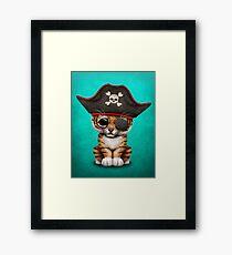 Cute Baby Tiger Cub Pirate Framed Print