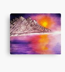 Raw Sunset Canvas Print