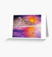 Raw Sunset Greeting Card
