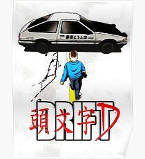 initial d manga Poster