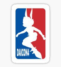 Daicon 4 Baseball Bunny  Sticker