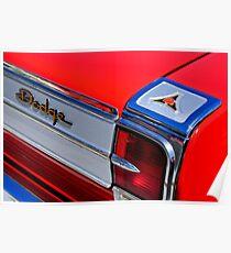 1965 Dodge Coronet 500 Rücklicht Emblem -0282c Poster