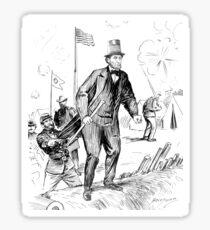 President Lincoln at Fort Stevens Sticker