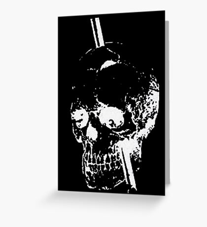 The Skull of Phineas Gage (White) Greeting Card