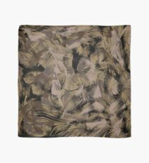 Fine brush strokes - khaki colour palette Scarf