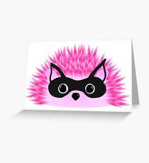 Hedgy Hedgehog, Halloween Cat  Greeting Card
