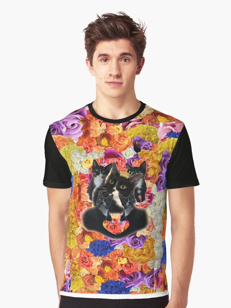 Beans The Kitty Graphic T-Shirt Front