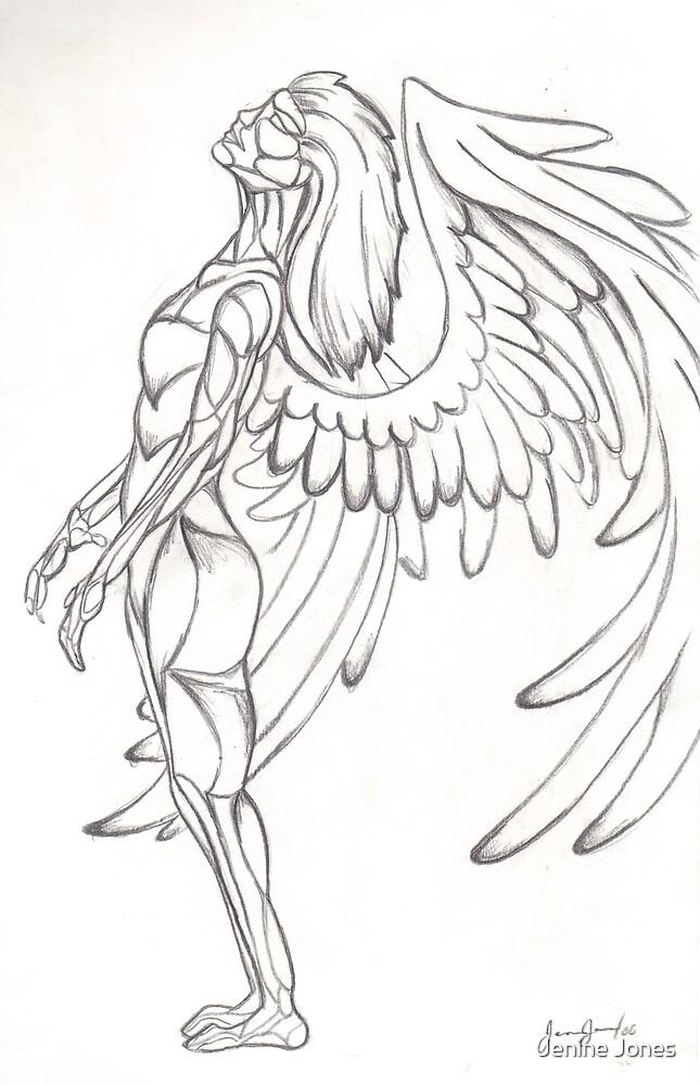 abstract angel by Jenine Jones