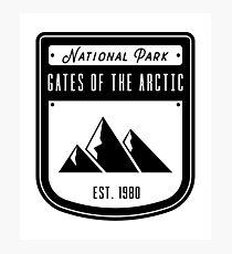 Gates of the Arctic National Park Badge Design Photographic Print