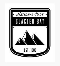 Glacier Bay National Park Badge Design Photographic Print