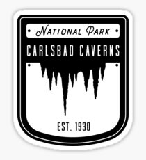 Carlsbad Caverns National Park Badge Design Sticker