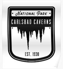 Carlsbad Caverns National Park Badge Design Poster