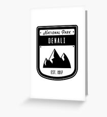 Denali National Park Badge Design Greeting Card