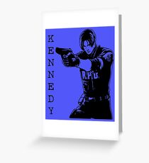 Leon Kennedy Resident Evil 2 Greeting Card