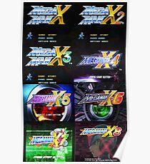 Megaman X Title Screen Poster