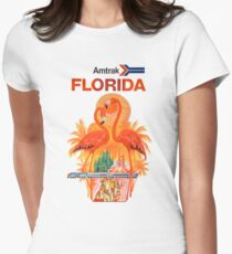 Amtrak Florida Amtrak Takes You Clear Across America Womens Fitted T-Shirt