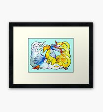 Nine Tails Times Two Framed Print