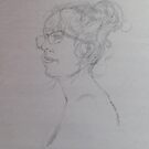 20 minute life-sketch with graphite by Elaine Bawden