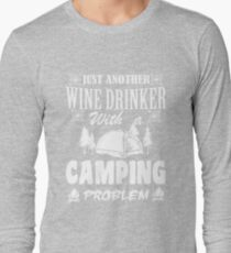 LOVE LOVE LOVE my wine at the campsite Long Sleeve T-Shirt