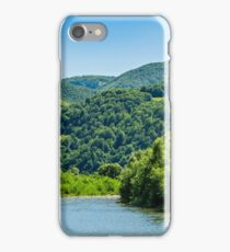 River among the forest in picturesque Carpathian mountains in summer iPhone Case/Skin