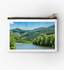 River among the forest in picturesque Carpathian mountains in summer Studio Pouch