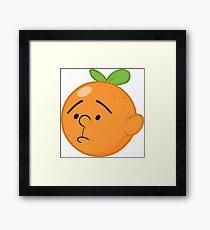 Karl Pilkington Head Like An Orange  Framed Print