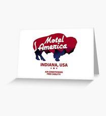 america motel Greeting Card