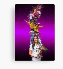 Christen Press (From Stanford University to Chicago Red Stars + National Team) Canvas Print