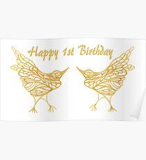 Happy 1st Birthday Poster