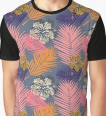 Tropical Hibiscus Graphic T-Shirt