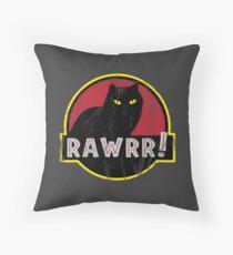 Cat Park Rawrr Throw Pillow