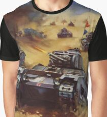 A British Tank Attack in the Western Desert - Back Them Up! Graphic T-Shirt
