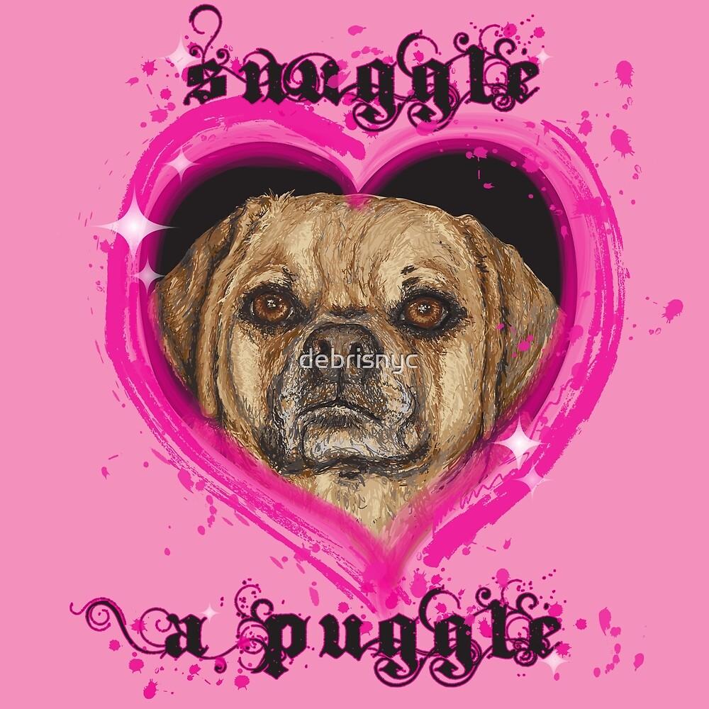 snuggle a puggle by debrisnyc