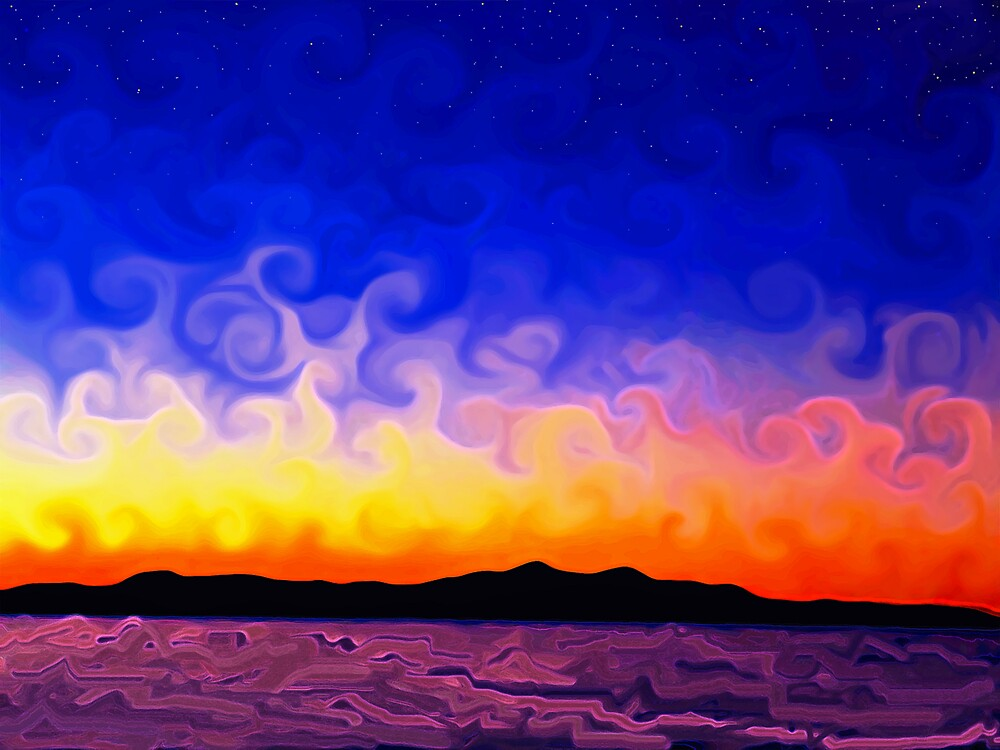 Swirly sunset by Justin Keller