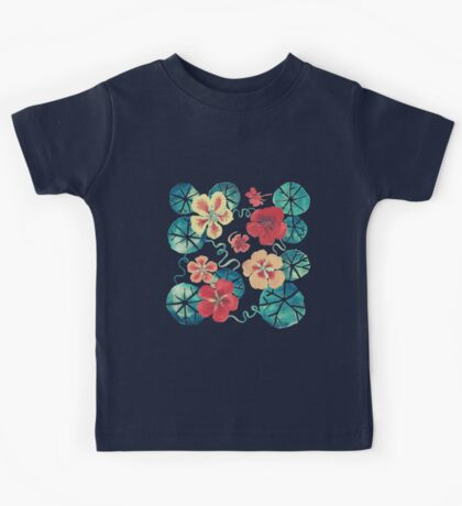 Watercolor Nasturtiums: In the Still of the Night Kids Clothes