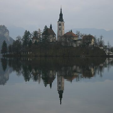 Bled Island in Slovenia by kissmythistle