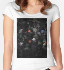 raw abstract Women's Fitted Scoop T-Shirt