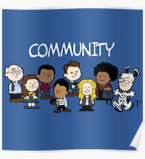 Community Snoopy Style Poster