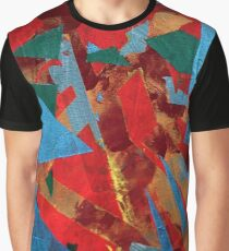 Blue Red Green Gold Graphic T-Shirt