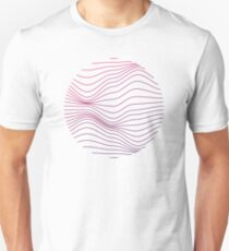 waves white Unisex T-Shirt