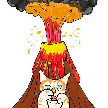 Volcano Cat - T-shirt by GeeklyShirts