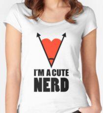 Im Nerd Cute Nerd Women's Fitted Scoop T-Shirt